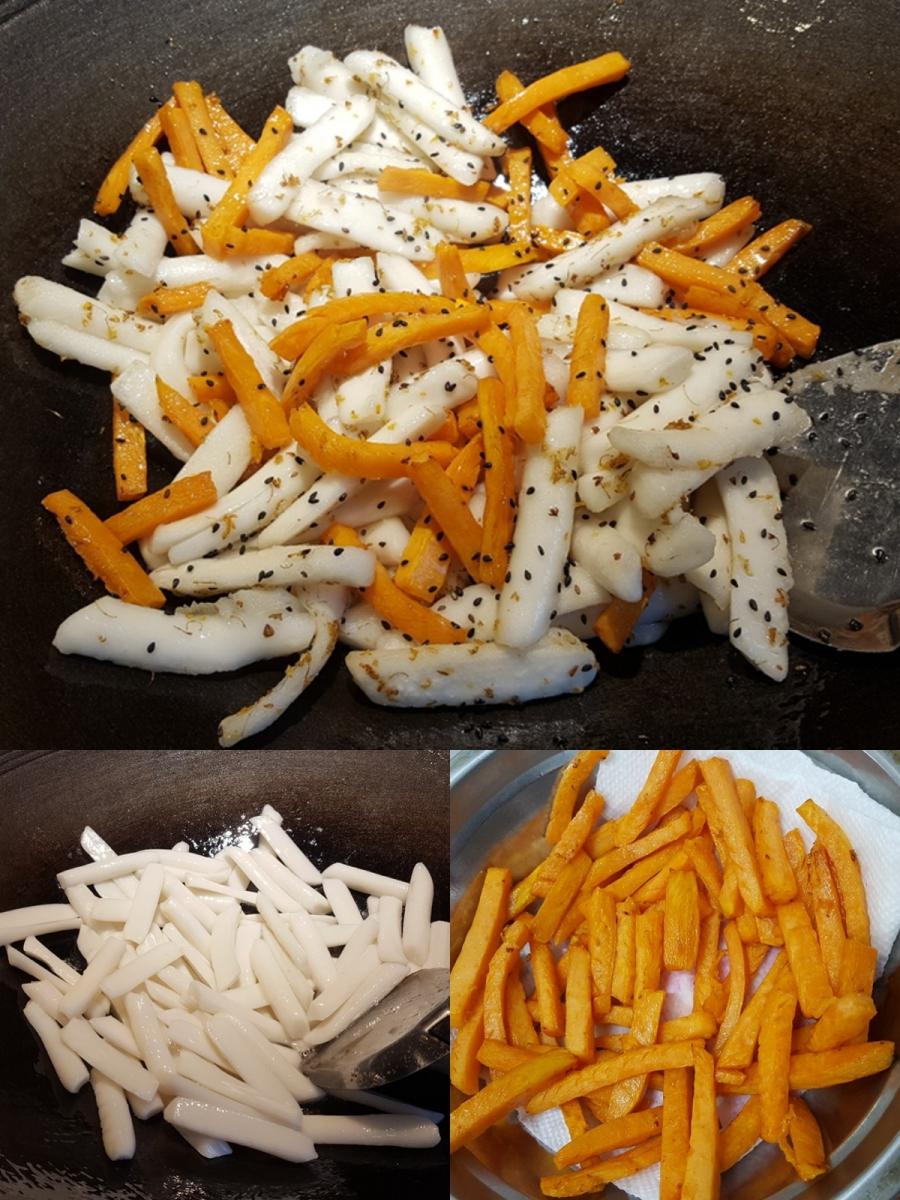 [田螺随拍]分享我做的-红薯桂花炒年糕_图1-3