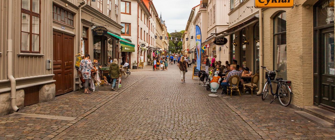 瑞典哥德堡,旧城的步行街_图1-8