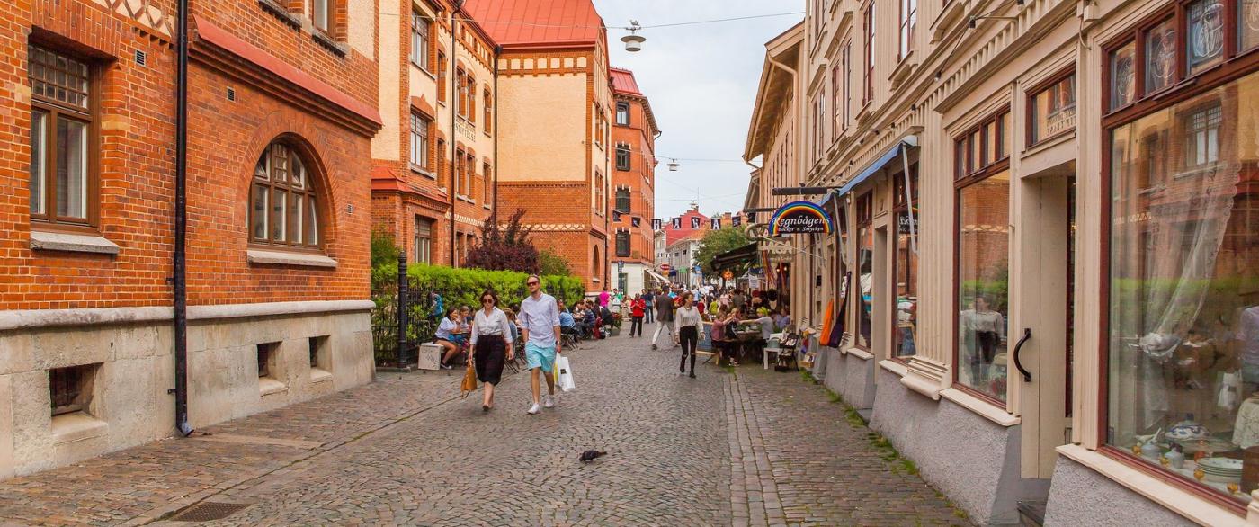 瑞典哥德堡,旧城的步行街_图1-5