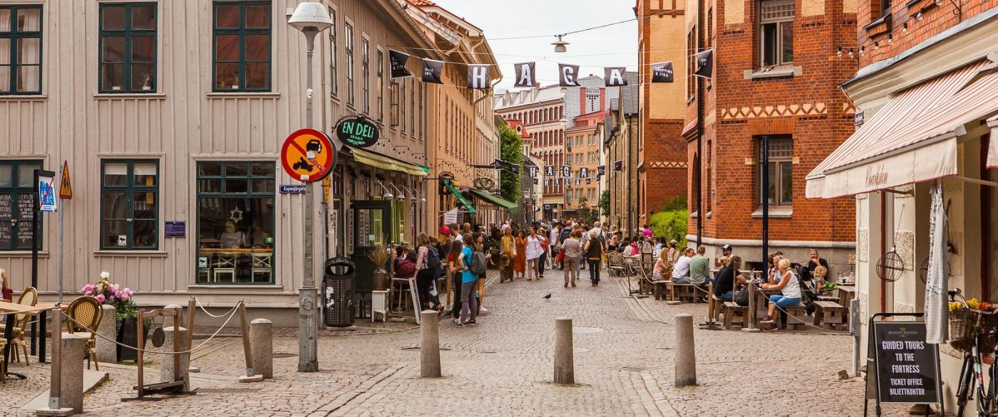 瑞典哥德堡,旧城的步行街_图1-6