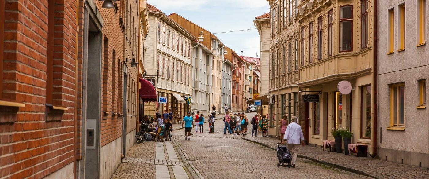 瑞典哥德堡,旧城的步行街_图1-4