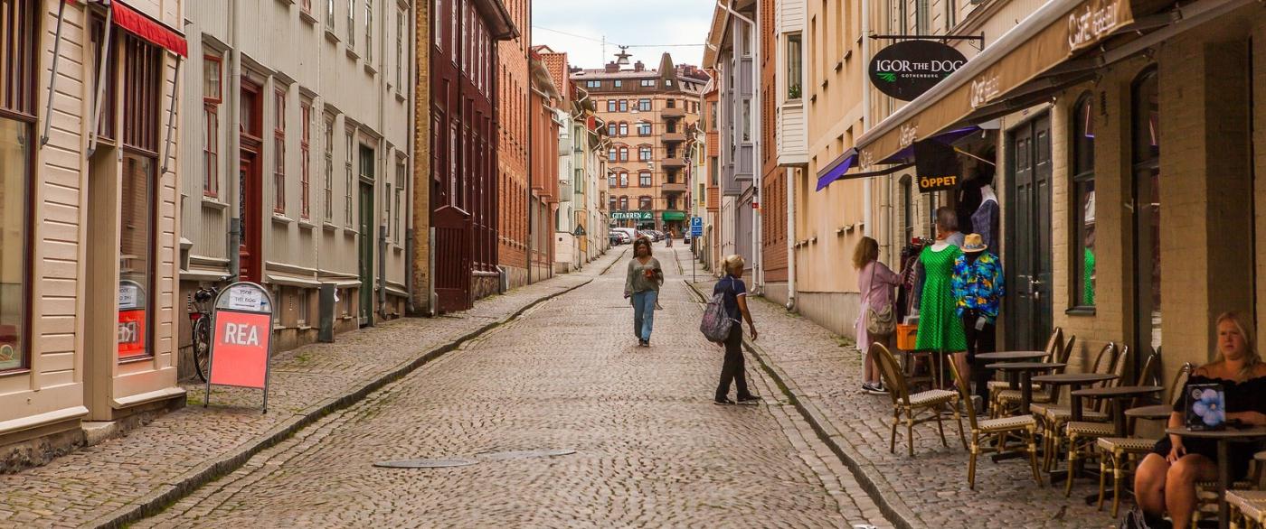瑞典哥德堡,旧城的步行街_图1-2