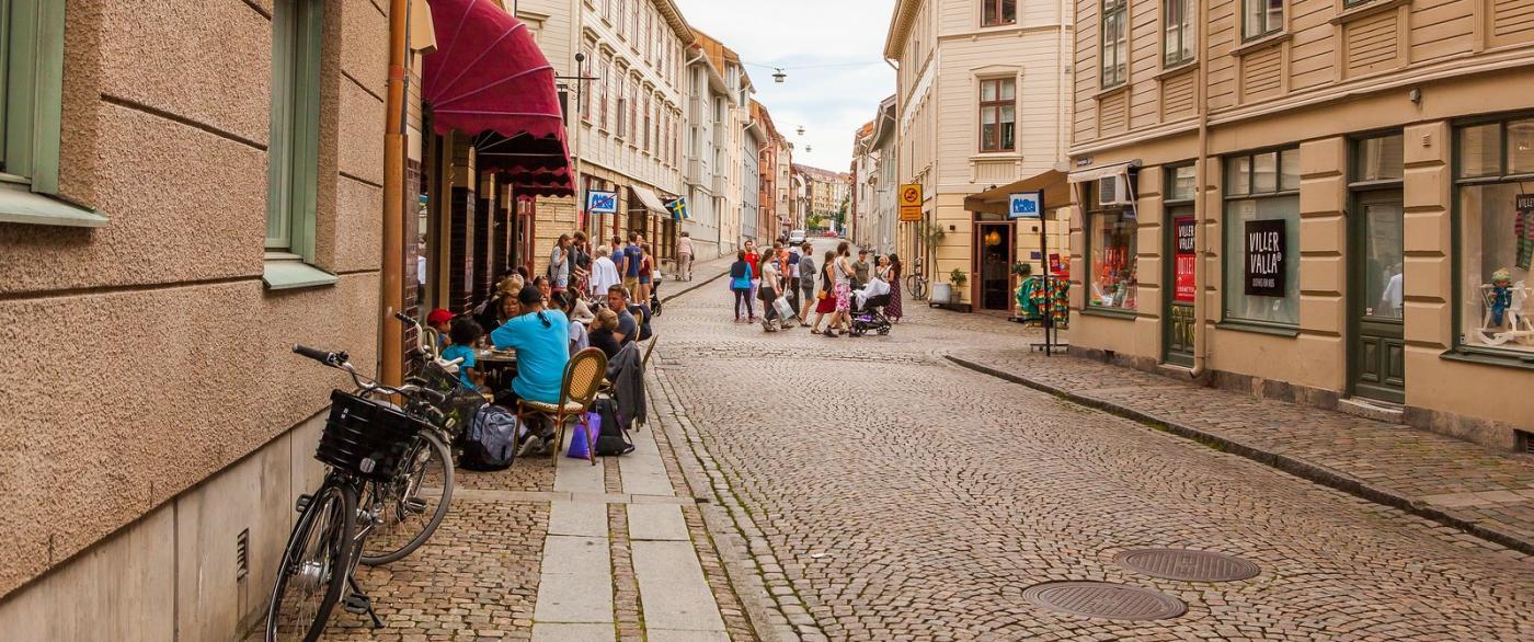 瑞典哥德堡,旧城的步行街_图1-3