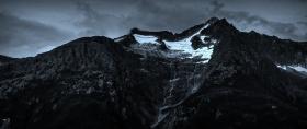 阿拉斯加,高山冰川流水