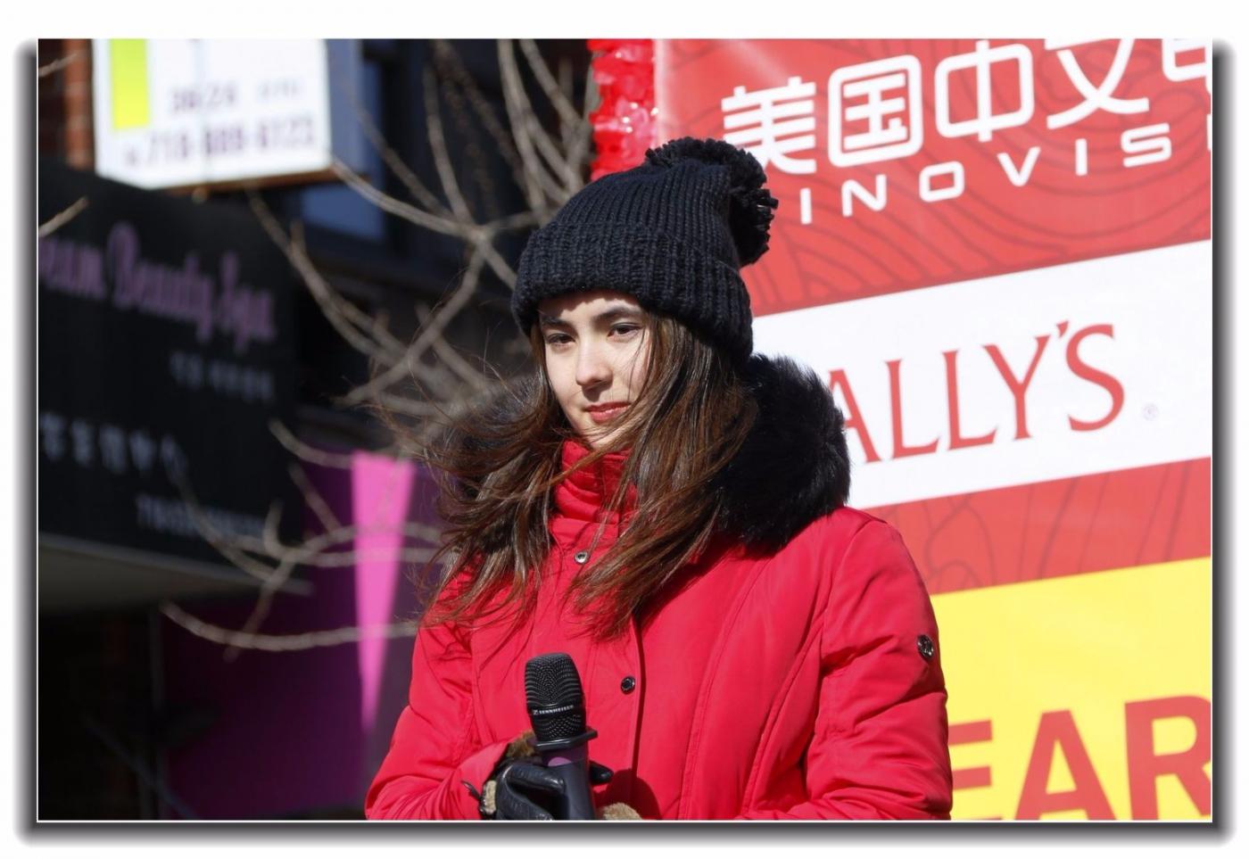 随拍法拉盛新春游行中的中文网队伍_图1-2