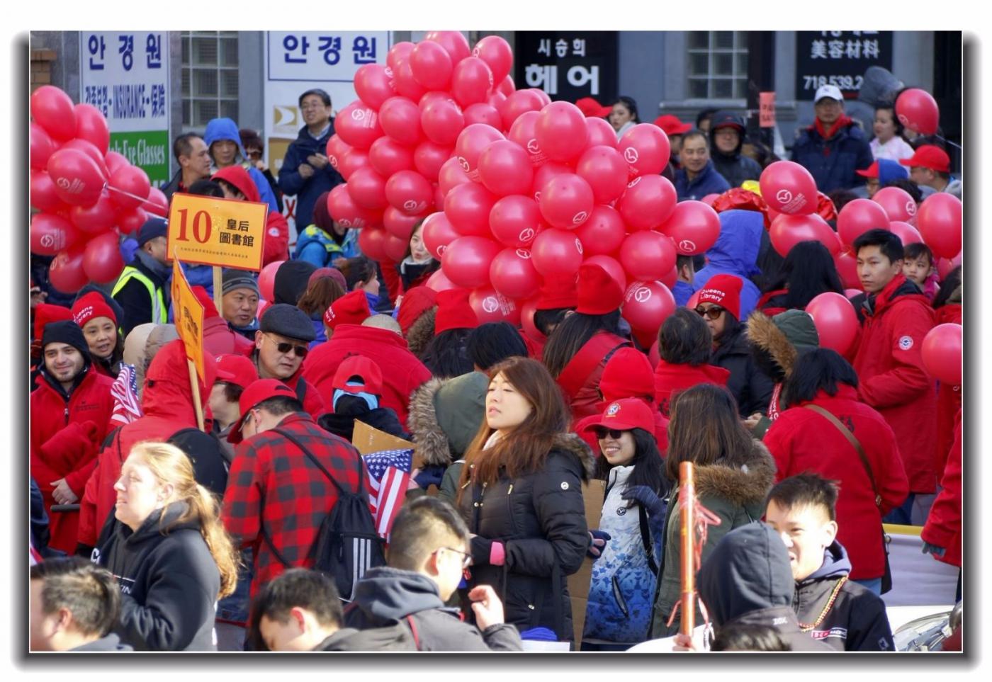 随拍法拉盛新春游行中的中文网队伍_图1-4