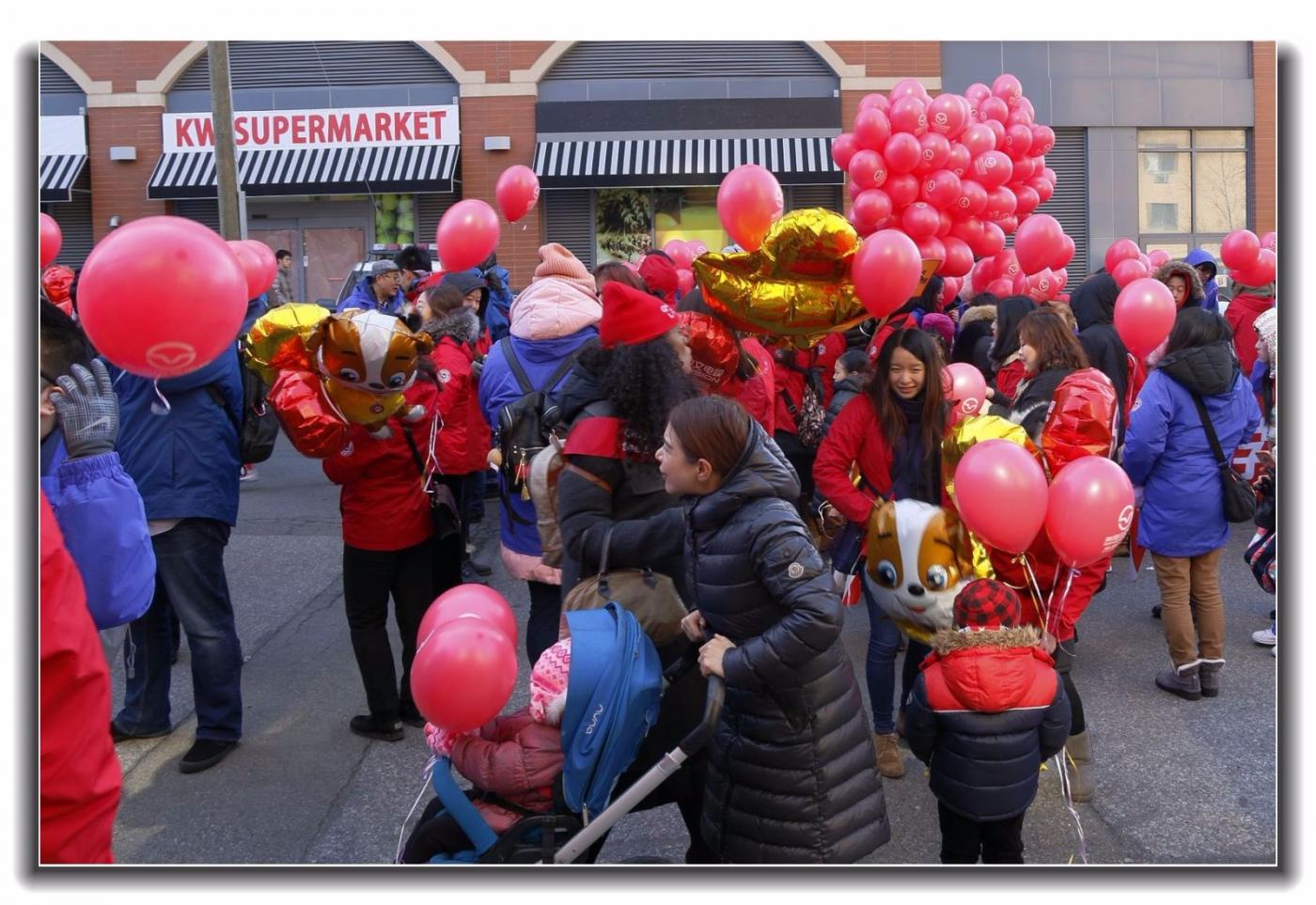 随拍法拉盛新春游行中的中文网队伍_图1-5