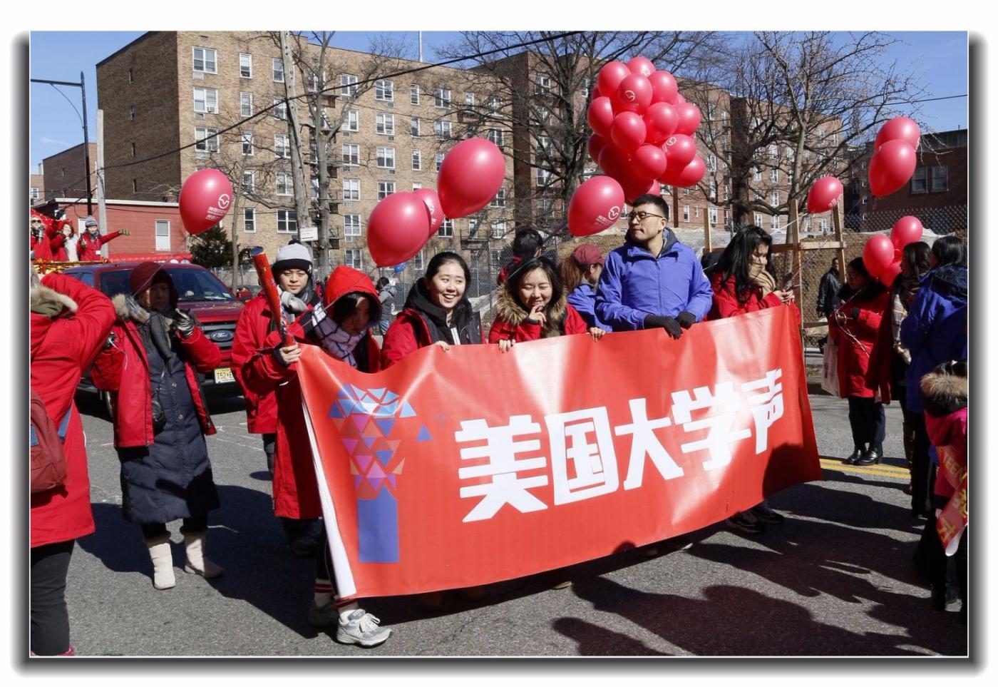 随拍法拉盛新春游行中的中文网队伍_图1-11