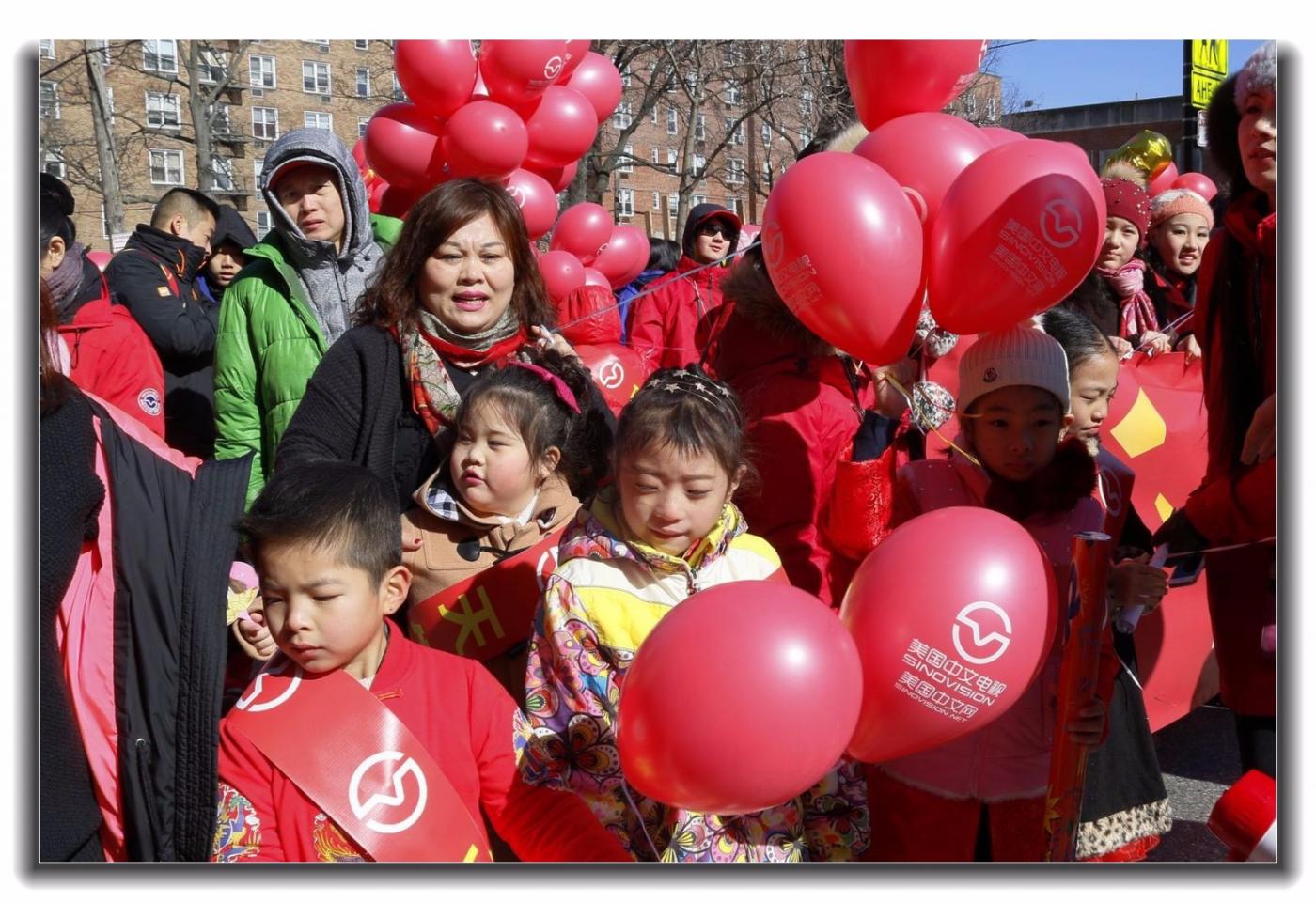 随拍法拉盛新春游行中的中文网队伍_图1-12