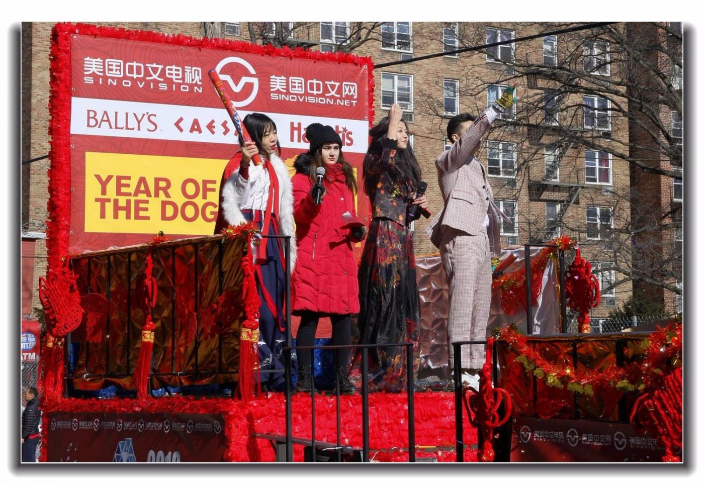 随拍法拉盛新春游行中的中文网队伍_图1-15