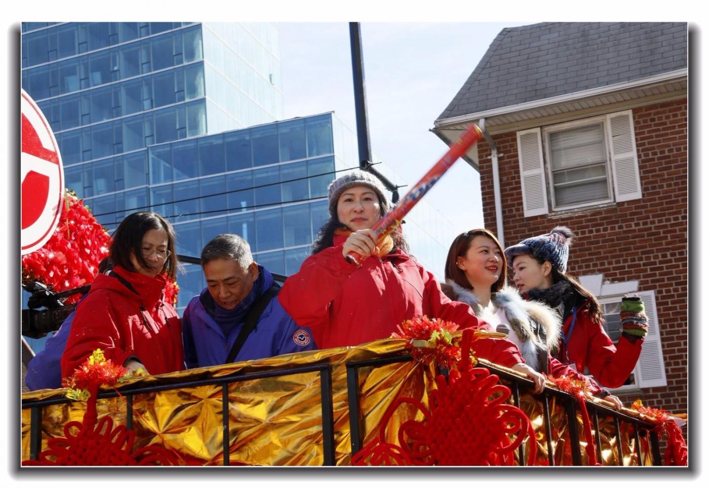 随拍法拉盛新春游行中的中文网队伍_图1-19