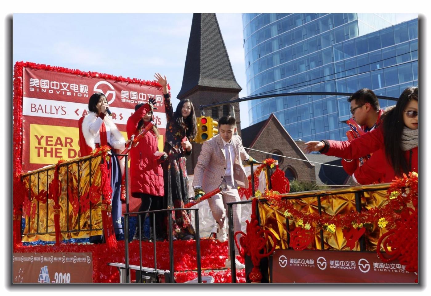 随拍法拉盛新春游行中的中文网队伍_图1-20