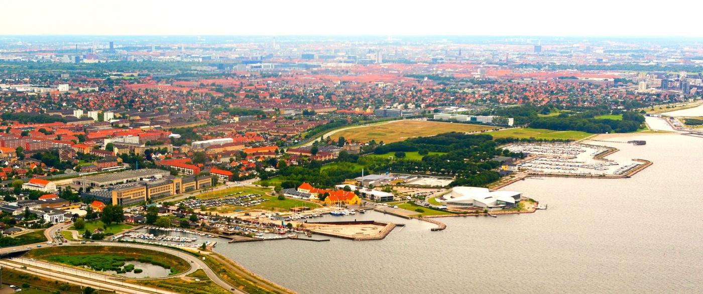 俯瞰哥本哈根,一片绿树红瓦_图1-8