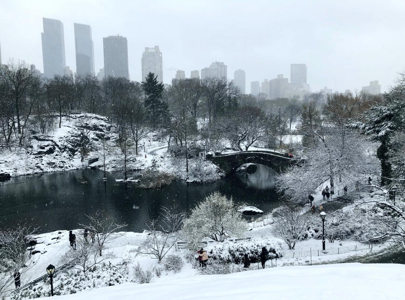 【田螺手机摄影】在纽约市拍雪景、还是中央公园最漂亮_图1-1