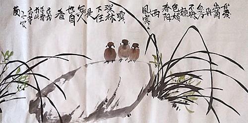 实力派画家张炳瑞香花鸟画欣赏_图1-1