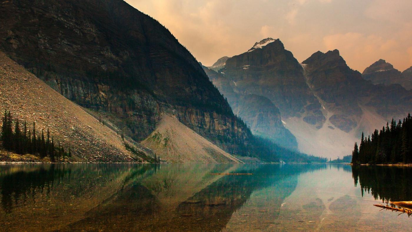 加拿大梦莲湖,梦幻的倒影_图1-9