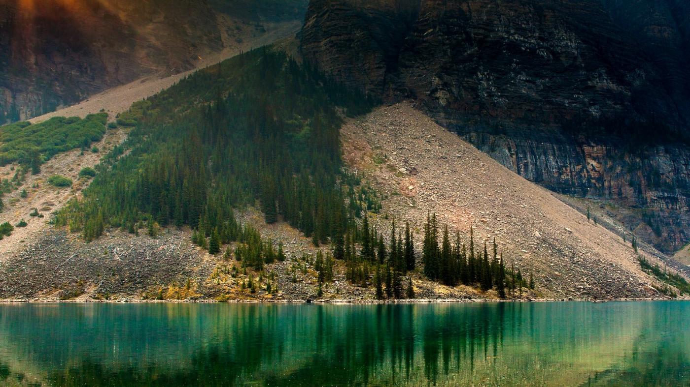 加拿大梦莲湖,梦幻的倒影_图1-7