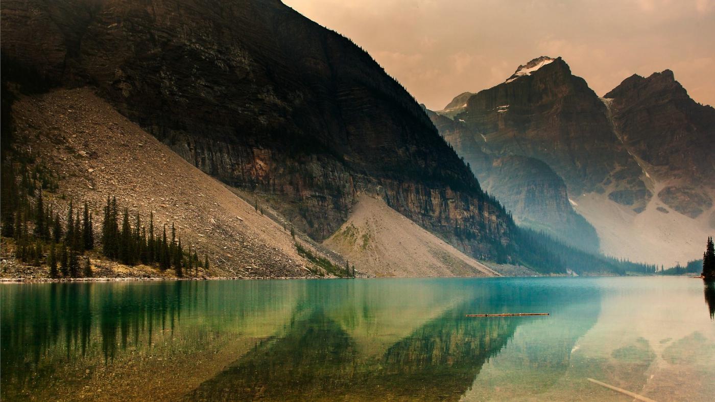 加拿大梦莲湖,梦幻的倒影_图1-5