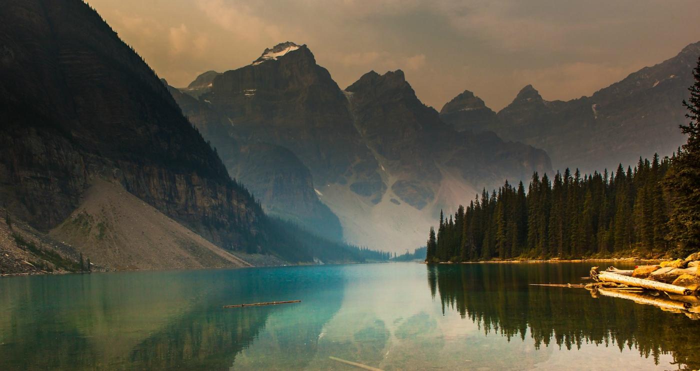 加拿大梦莲湖,梦幻的倒影_图1-4