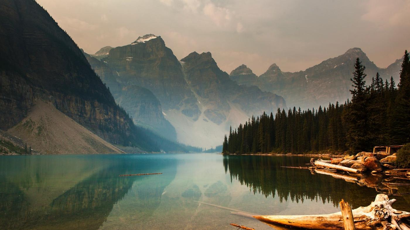 加拿大梦莲湖,梦幻的倒影_图1-3