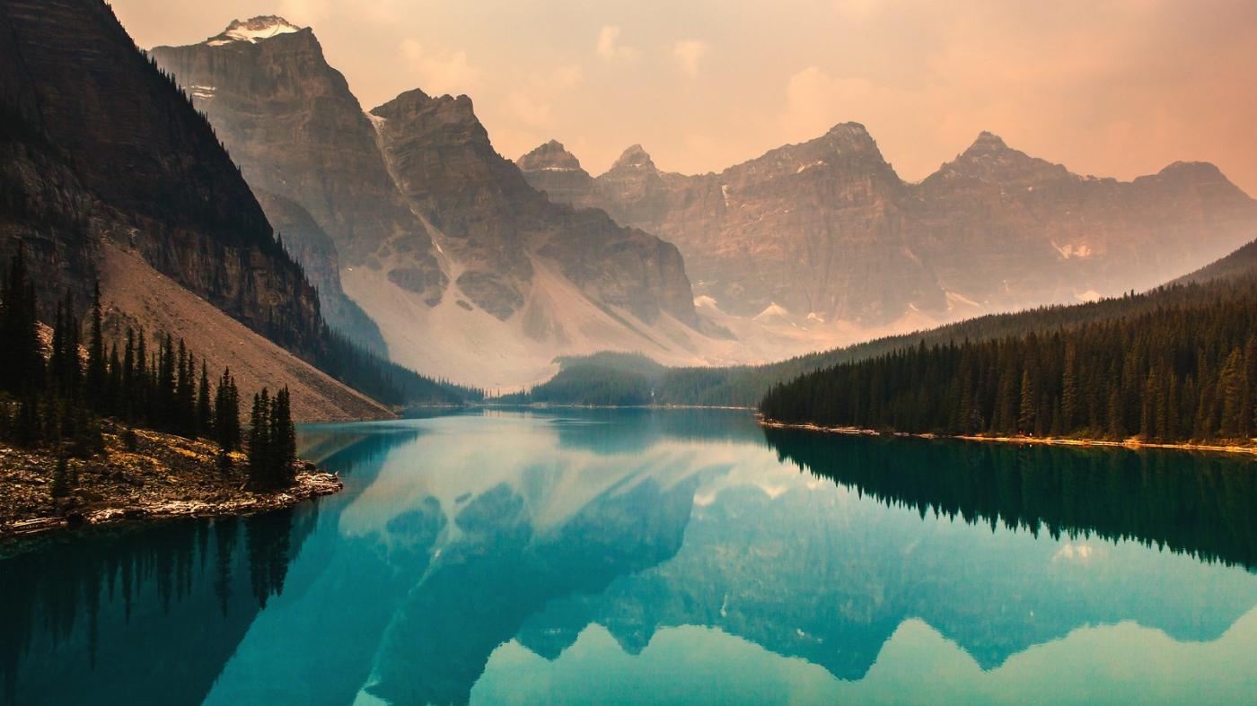 加拿大梦莲湖,梦幻的倒影_图1-1