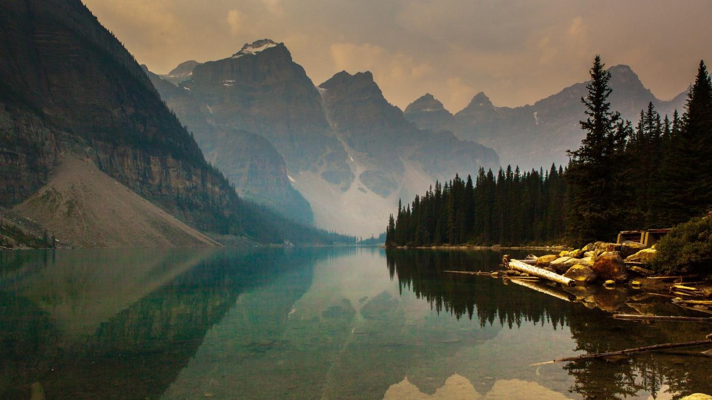加拿大梦莲湖,梦幻的倒影_图1-2