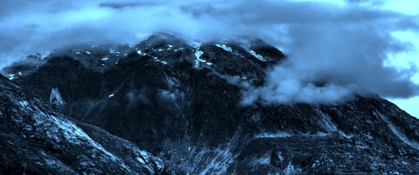 阿拉斯加,山峰若隐若现_图1-3