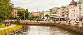 瑞典哥德堡,城中河上的市景