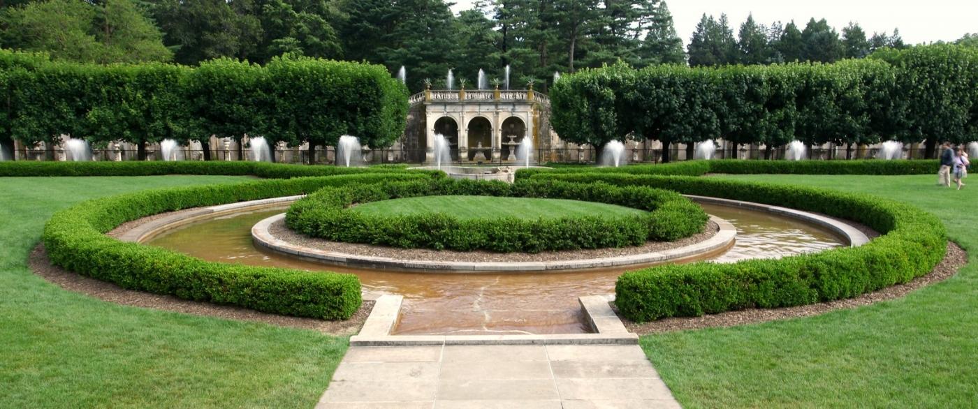 费城长木公园,改建前的中心喷泉花园_图1-1