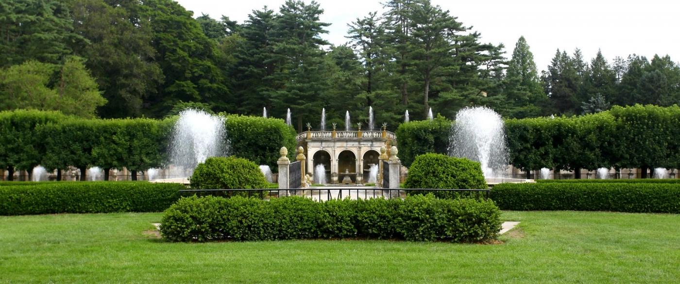 费城长木公园,改建前的中心喷泉花园_图1-6