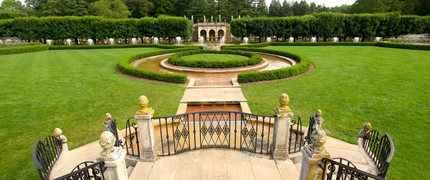 费城长木公园,改建前的中心喷泉花园_图1-5
