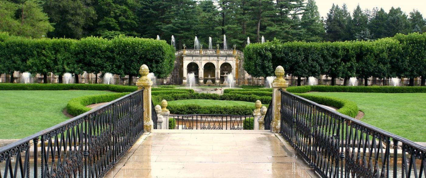 费城长木公园,改建前的中心喷泉花园_图1-7