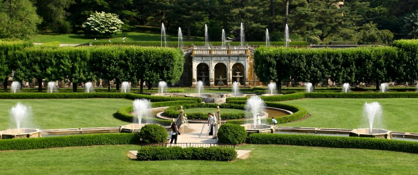费城长木公园,改建前的中心喷泉花园_图1-9
