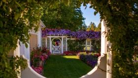 加拿大布查德花园,庭院风格很