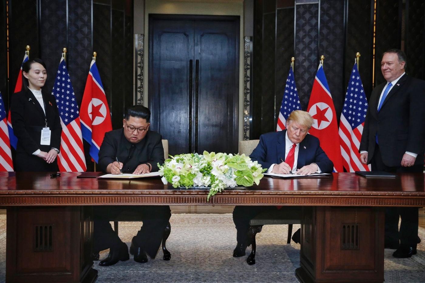 特朗普和金正恩签订历史性和平协议_图1-5