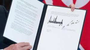 特朗普和金正恩签订历史性和平协议_图1-6