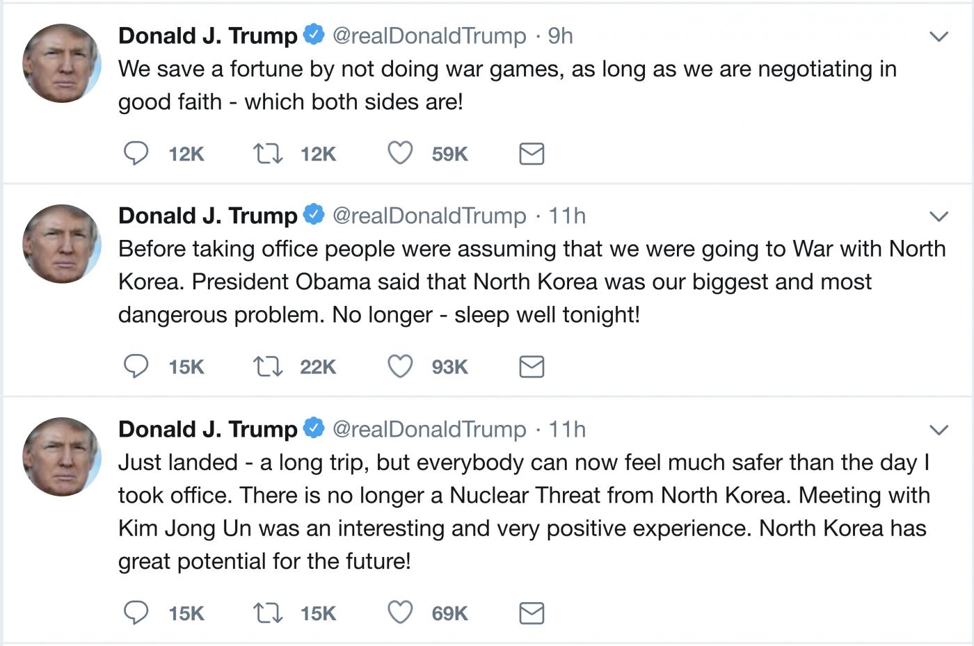 特朗普宣布朝鲜核威胁已经不复存在_图1-1