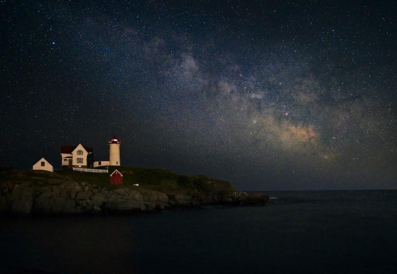 Nubble Lighthouse 银河与白天下的倒影【心想事成】_图1-1