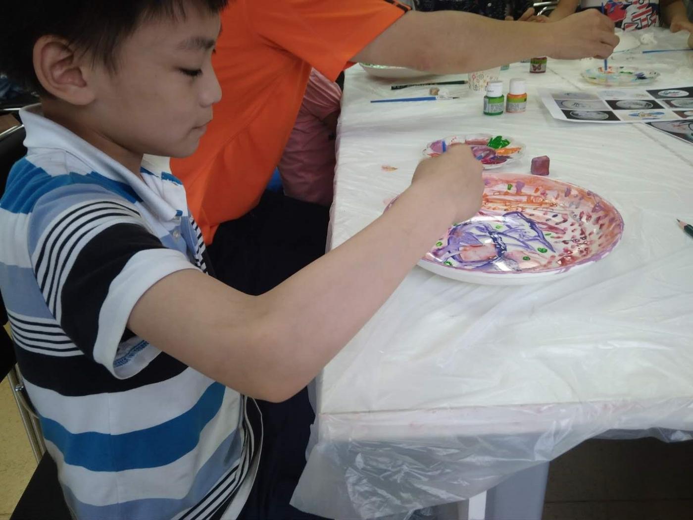 瓷盘彩色绘画_图1-4