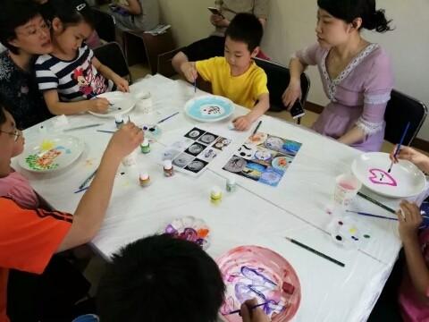 瓷盘彩色绘画_图1-18