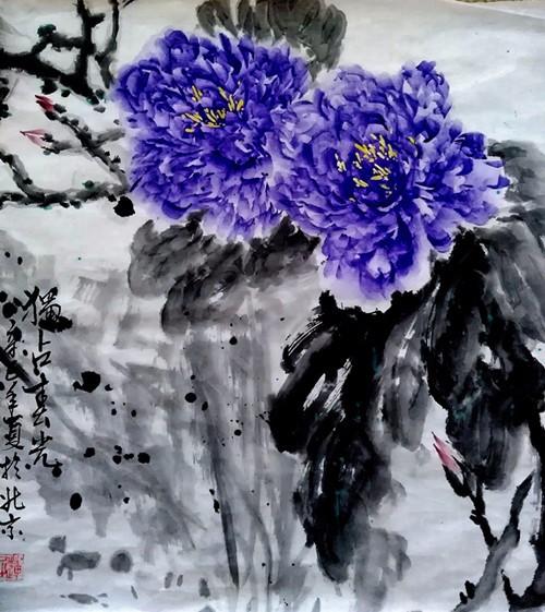 《一花一叶,墨彩流韵》张炳瑞香牡丹心语线上作品展播系列 ..._图1-1