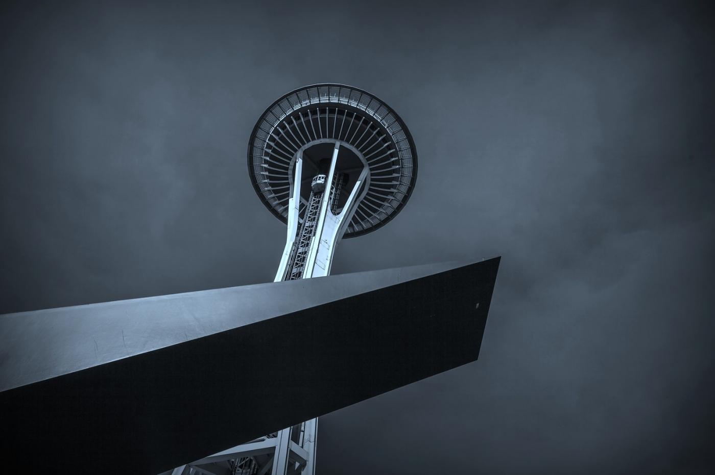 美国西雅图,太空针塔的英姿_图1-7