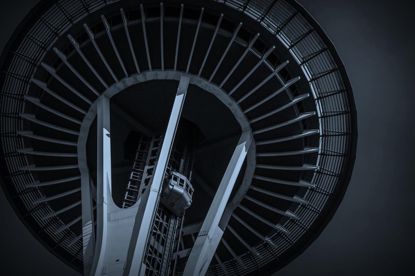 美国西雅图,太空针塔的英姿_图1-6