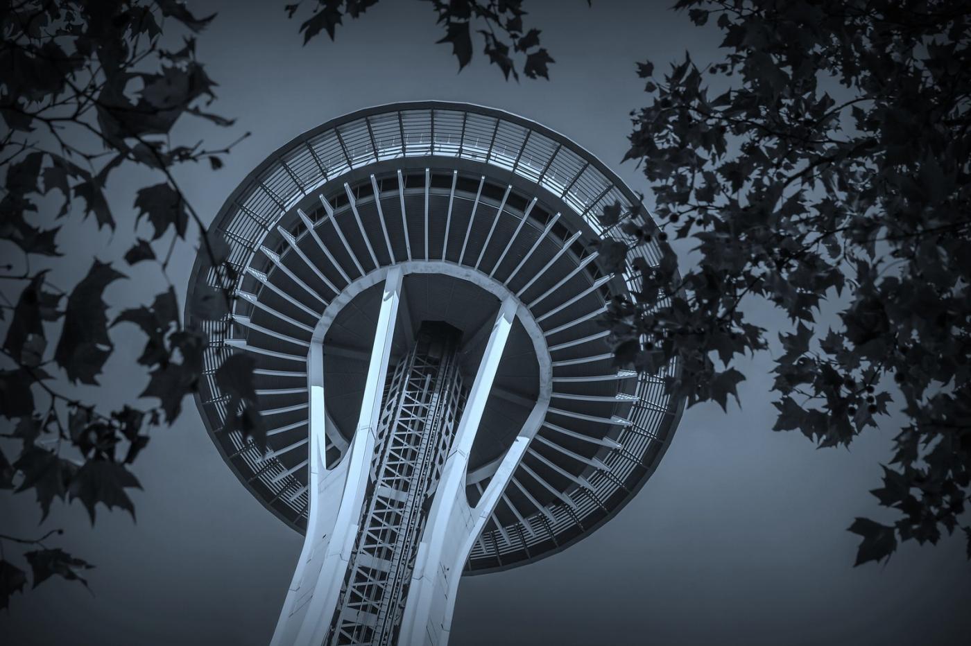 美国西雅图,太空针塔的英姿_图1-8