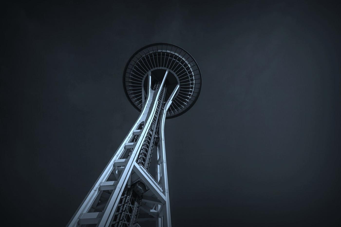 美国西雅图,太空针塔的英姿_图1-5