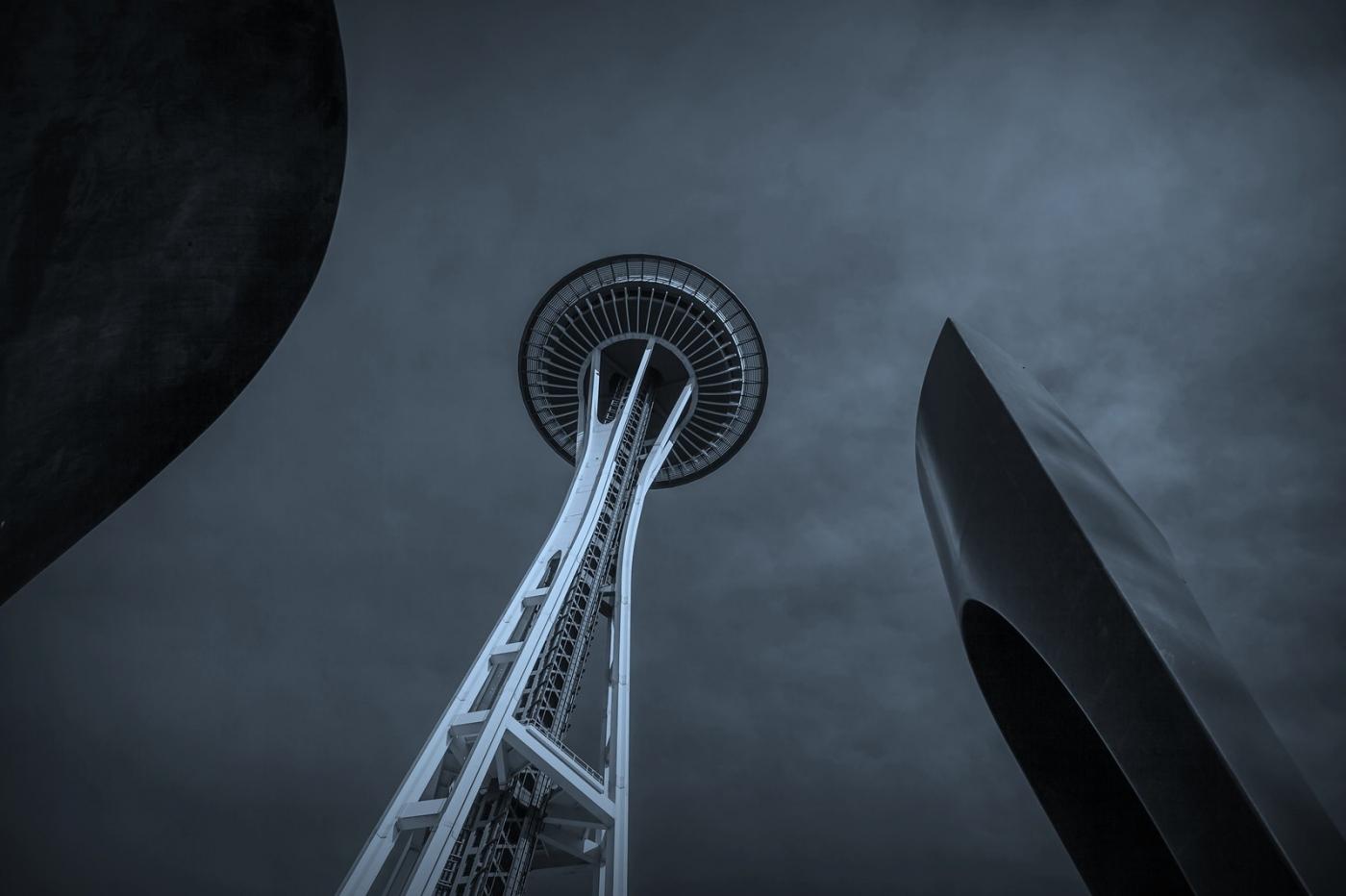 美国西雅图,太空针塔的英姿_图1-4