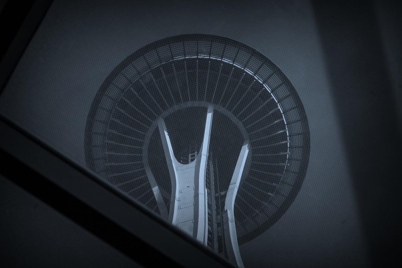 美国西雅图,太空针塔的英姿_图1-2