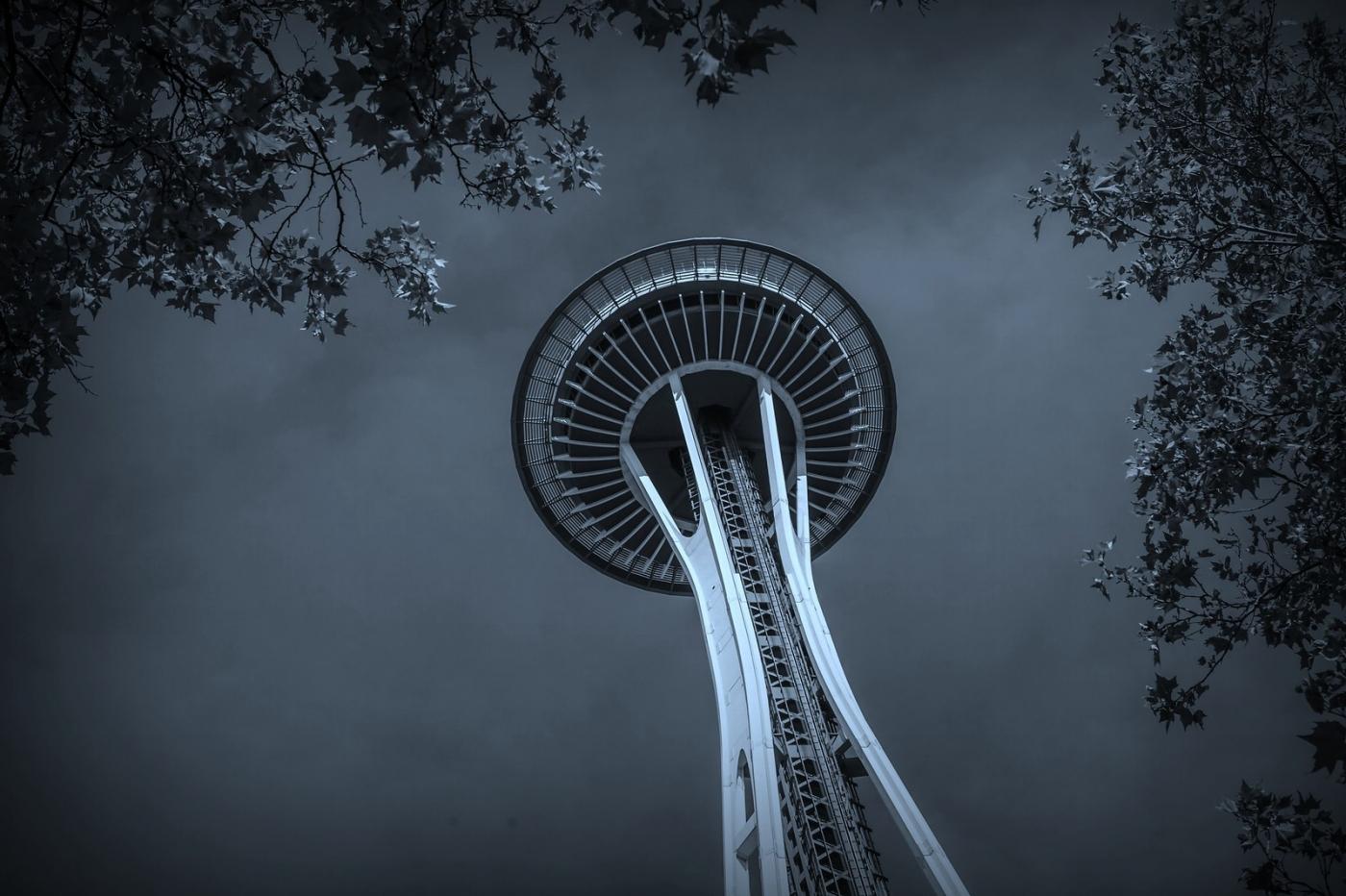 美国西雅图,太空针塔的英姿_图1-9