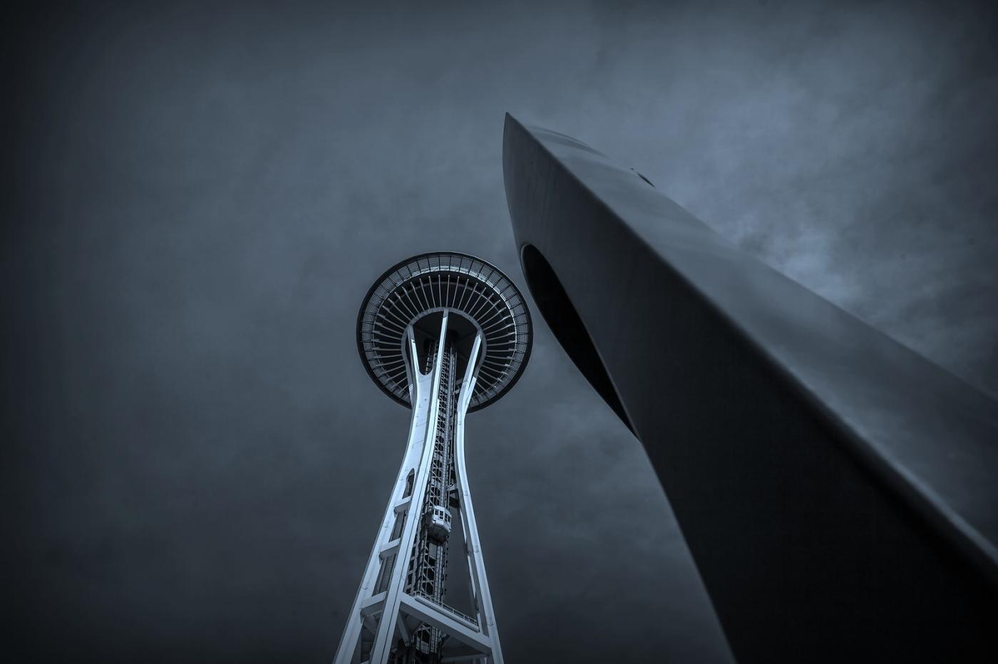 美国西雅图,太空针塔的英姿_图1-1