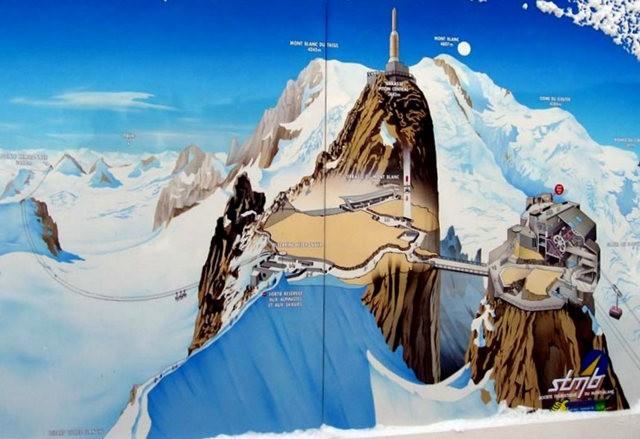 从南针峰.观看阿尔卑斯山全景_图1-2